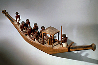 0414240 © Granger - Historical Picture ArchiveARCHAEOLOGY.    Model of a boat, from the Tomb of Ini, Gebelein. Egyptian Civilisation, First Intermediate Period, 10th Dynasty. Full credit: De Agostini / G. Dagli Orti / Granger, NYC -- All Rights Reserved.
