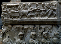 0414402 © Granger - Historical Picture ArchiveARCHAEOLOGY.    The procession of the Magi, detail from the sarcophagus of Flavio Gorgonio. Early Christian period, 1st-6th century. Full credit: De Agostini Picture Library / Granger, NYC -- All Rights Reserved.
