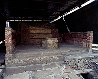 0414952 © Granger - Historical Picture ArchiveARCHAEOLOGY.    Northern red shrine, Templo Mayor, Mexico City, Mexico. Aztec civilisation, ca 1500. Full credit: De Agostini / G. Dagli Orti / Granger, NYC -- All rights reserved.