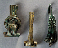 0416158 © Granger - Historical Picture ArchiveARCHAEOLOGY.    Bronze fibulae from Franche-Comte', France. Gallo-Roman Civilisation. Full credit: De Agostini / G. Dagli Orti / Granger, NYC -- All rights reserved.