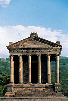 0417103 © Granger - Historical Picture ArchiveARCHAEOLOGY.    Pagan temple dedicated to Mithras, Garni, Armenia. Armenian and Roman civilisation, 1st century AD. Full credit: De Agostini / W. Buss / Granger, NYC -- All rights