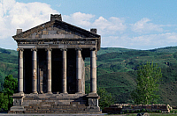 0417104 © Granger - Historical Picture ArchiveARCHAEOLOGY.    Pagan temple dedicated to Mithras, Garni, Armenia. Armenian and Roman civilisation, 1st century AD. Full credit: De Agostini / W. Buss / Granger, NYC -- All rights