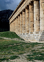 0417124 © Granger - Historical Picture ArchiveARCHAEOLOGY.    Colonnade of Temple of Segesta, Sicily, Italy. Greek civilisation, 5th century BC. Full credit: De Agostini / L. Romano / Granger, NYC -- All rights reserved.