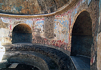 0417565 © Granger - Historical Picture ArchiveARCHAEOLOGY.    Frigidarium based on a circular plan, Forum Baths, Pompeii (Unesco World Heritage List, 1997), Campania, Italy. Roman civilisation, 1st century BC. Full credit: De Agostini / L. Romano / Granger, NYC -- All rights reserved.