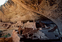 0417838 © Granger - Historical Picture ArchiveARCHAEOLOGY.    Long House, Mesa Verde National Park (Unesco World Heritage List, 1978), Colorado, United States. Anasazi Civilisation. Full credit: De Agostini / L. Romano / Granger, NYC -- All Rights Reserved.