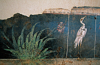 0419562 © Granger - Historical Picture ArchiveARCHAEOLOGY.    Flamingo in a swamp, fresco from the House of Love and Pan, Saint-Romain-en-Gal, Vienne, Rhone-Alpes, France. Roman civilisation, 1st century BC-1st century AD. Full credit: De Agostini / C. Sappa / Granger, NYC -- All right