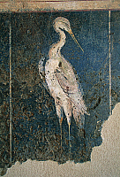 0419563 © Granger - Historical Picture ArchiveARCHAEOLOGY.    Flamingo in a swamp, fresco from the House of Love and Pan, Saint-Romain-en-Gal, Vienne, Rhone-Alpes, France. Roman civilisation, 1st century BC-1st century AD. Full credit: De Agostini / C. Sappa / Granger, NYC -- All right