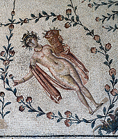 0419652 © Granger - Historical Picture ArchiveARCHAEOLOGY.    Allegory of Spring, detail from the Triumph of Neptune, mosaic uncovered from La Chebba, Tunisia. Roman Civilisation, mid-2nd century. Full credit: De Agostini / G. Dagli Orti / Granger, NYC -- All rights reserved.