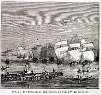 0507934 © Granger - Historical Picture ArchiveBRITISH LIBRARY.   The Graphic. Opium fleet. Full credit: British Library / Granger, NYC -- All rights reserved.