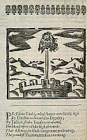 0508142 © Granger - Historical Picture ArchiveBRITISH LIBRARY.   [Mischeefes mysterie  London 1617]. Head of Guy Fawkes. Full credit: British Library / Granger, NYC -- All rights reserved.