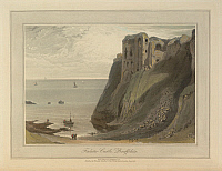 0515659 © Granger - Historical Picture ArchiveBRITISH LIBRARY.   A Voyage round Great Britain undertaken in the summer of the year 1813 With a series of views illustrative of the character and prominent features of the coast, drawn and engraved by William Daniell. Finlater Castle - Banffshire. Great Britain. Scotland. Landscapes and coastal scenes drawn and engraved by William Daniell. . Full credit: Br