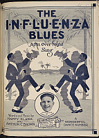 0516193 © Granger - Historical Picture ArchiveBRITISH LIBRARY.   The Influenza Blues. The Influenza Blues. Illustrated cover for a songbook.. Full credit: British Library / Granger, NYC -- All rights reserved.