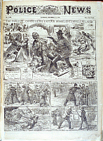 0517743 © Granger - Historical Picture ArchiveBRITISH LIBRARY.   The Illustrated Police News Law courts and weekly. Captain Moonlight. Full credit: British Library / Granger, NYC -- All rights reserved.