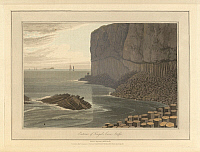 0520678 © Granger - Historical Picture ArchiveBRITISH LIBRARY.   A Voyage round Great Britain undertaken in the summer of the year 1813 With a series of views illustrative of the character and prominent features of the coast, drawn and engraved by William Daniell. Fingal's Cave on Staffa. The coastline and landscape of Great Britain. Drawn and engraved by William Daniell.. Full credit: British Library /