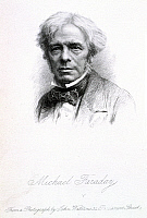 0521543 © Granger - Historical Picture ArchiveBRITISH LIBRARY.   Michael Faraday, second edition. Michael Faraday (1791-1867). English chemist and physicist. Portrait.. Full credit: British Library / Granger, NYC -- All rights reserved.