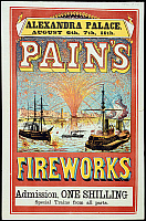 0523665 © Granger - Historical Picture ArchiveBRITISH LIBRARY.   A collection of pamphlets, handbills, and miscella. Pain's Fireworks. Full credit: British Library / Granger, NYC -- All rights reserved.