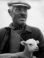 0560871 © Granger - Historical Picture ArchiveFRANCE.   Shepherd with lamb in the Provence (undated picture). Full credit: Gert Mähler / Süddeutsche Zeitung Photo / Granger, NYC -- All rights reserved.