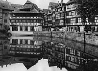 0560889 © Granger - Historical Picture ArchiveFRANCE.   Timber-framed houses and river in Strasbourg (undated picture). Full credit: Gert Mähler / Süddeutsche Zeitung Photo / Granger, NYC -- All rights reserved.