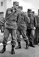 0561319 © Granger - Historical Picture ArchiveGERMANY.   Elvis Aaron Presley (1935-1977), American rock and pop singer. The picture was taken when, as a soldier, Presley stationed in Friedberg. Full credit: Kurt Schraudenbach / Süddeutsche Zeitung Photo / Granger, NYC -- All rights reserved.
