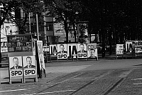 0562339 © Granger - Historical Picture ArchiveGERMANY.   Election posters in Hamburg. Full credit: Dietmar Gottschall / Süddeutsche Zeitung Photo / Granger, NYC -- All rights reserved.