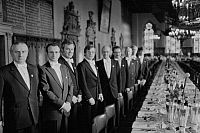 0562421 © Granger - Historical Picture ArchiveGERMANY.   The Schaffermahlzeit (traditional fraternity dinner for ships' captains, ship owners, and merchants) in Bremen's Town Hall. Full credit: Dietmar Gottschall / Süddeutsche Zeitung Photo / Granger, NYC -- All rights reserved.