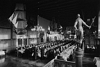 0562422 © Granger - Historical Picture ArchiveGERMANY.   The Schaffermahlzeit (traditional fraternity dinner for ships' captains, ship owners, and merchants) in Bremen's Town Hall. Full credit: Dietmar Gottschall / Süddeutsche Zeitung Photo / Granger, NYC -- All rights reserved.