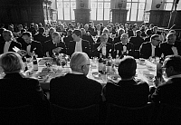 0562425 © Granger - Historical Picture ArchiveGERMANY.   The Schaffermahlzeit (traditional fraternity dinner for ships' captains, ship owners, and merchants) in Bremen's Town Hall. Full credit: Dietmar Gottschall / Süddeutsche Zeitung Photo / Granger, NYC -- All rights reserved.