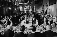 0562426 © Granger - Historical Picture ArchiveGERMANY.   The Schaffermahlzeit (traditional fraternity dinner for ships' captains, ship owners, and merchants) in Bremen's Town Hall. Full credit: Dietmar Gottschall / Süddeutsche Zeitung Photo / Granger, NYC -- All rights reserved.