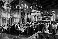 0562429 © Granger - Historical Picture ArchiveGERMANY.   The Schaffermahlzeit (traditional fraternity dinner for ships' captains, ship owners, and merchants) in Bremen's Town Hall. Full credit: Dietmar Gottschall / Süddeutsche Zeitung Photo / Granger, NYC -- All rights reserved.