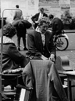 0563229 © Granger - Historical Picture ArchiveNETHERLANDS.   Sellers on the Waterlooplein flea market. Full credit: Gert Mähler / Süddeutsche Zeitung Photo / Granger, NYC -- All rights reserved.
