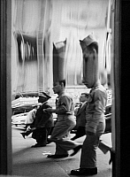 0563568 © Granger - Historical Picture ArchiveUNITED STATES OF AMERICA.   American soldiers in a fun house mirror in New York. Undated picture. Full credit: Kurt Schraudenbach / Süddeutsche Zeitung Photo / Granger, NYC -- All rights reserved.