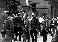 0576526 © Granger - Historical Picture ArchiveGERMANY.   Because of a severe conflict between national socialist and communist minded students, policemen patrol between students at the Frederick William University. Full credit: Scherl / Süddeutsche Zeitung Photo / Granger, NYC -- All rights reserved.