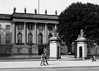 0576528 © Granger - Historical Picture ArchiveGERMANY.   Main entrance building of the Frederick William University in Berlin, Unter den Linden in Berlin. Full credit: Scherl / Süddeutsche Zeitung Photo / Granger, NYC -- All rights reserved.