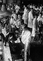 0576530 © Granger - Historical Picture ArchiveGERMANY.   Chemistry students in the test room of the Frederick William University in Berlin. Full credit: Scherl / Süddeutsche Zeitung Photo / Granger, NYC -- All rights reserved.