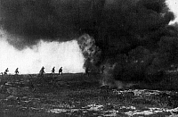 0589411 © Granger - Historical Picture ArchiveITALY.   Soldiers attack Italian positions, covered by the smoke of a flame thrower. Full credit: Scherl / Süddeutsche Zeitung Photo / Granger, NYC -- All rights reserved.