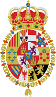 0600385 © Granger - Historical Picture ArchiveSPAIN.   Coat of arms of  Isabella II 1451-1504). Full credit: Pictures from History / Granger, NYC -- All rights reserved.