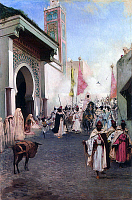 0601133 © Granger - Historical Picture ArchiveTURKEY.   The Entry of Mahomet II into Constantinople / The Entry of Fatih Sultan Mehmet into Istanbul. Painting by Enzie Shahmiri. Full credit: Pictures from History / Granger, NYC -- All rights reserved.