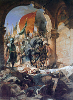 0601142 © Granger - Historical Picture ArchiveTURKEY.   The Entry of Mahomet II into Constantinople / The Entry of Fatih Sultan Mehmet into Istanbul. Painting by Jean-Joseph Benjamin Constant (1845-1902). Full credit: Pictures from History / Granger, NYC -- All rights reserved.