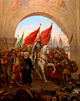 0601221 © Granger - Historical Picture ArchiveTURKEY.   The Entry of Mahomet II into Constantinople / The Entry of Fatih Sultan Mehmet into Istanbul. Painting by Fausto Zonaro (1854-1929).. Full credit: Pictures from History / Granger, NYC -- All rights reserved.