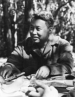 0601395 © Granger - Historical Picture ArchiveSALOTH SAR (MAY 19, 1928?ÇôAPRIL 15, 1998), BETTER KNOWN AS POL POT, WAS THE LEADER OF THE CAMBODIAN COMMUNIST MOVEMENT KNOWN AS THE KHMER ROUGE AND PRIME MINISTER OF DEMOCRATIC KAMPUCHEA FROM 1976?Çô1979. IN 1979, AFTER THE INVASION OF CAMBODIA BY VIETNAM, POL POT FLED INTO THE JUNGLES OF SOUTHWEST CAMBODIA. POL POT DIED IN 1998 WHILE HELD UNDER HOUSE ARRES