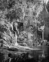 0601514 © Granger - Historical Picture ArchiveSRI LANKA.   A waterfall near Kandy, Central Highlands. Photograph by Ernst Heinrich Philipp August Haeckel.  Full credit: Pictures from History / Granger, NYC.