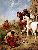 0602109 © Granger - Historical Picture ArchiveALGERIA/ MAGHREB.   ?ÇÿThe Falconer?ÇÖ, an 1863 painting by Eugene Fromentin, which also shows Algerian locals on Barb horses.. Full credit: Pictures from History / Granger, NYC -- All rights reserved.