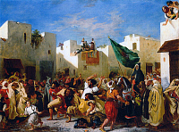 0602429 © Granger - Historical Picture ArchiveMOROCCO.   Eugene Delacroix, 'The Fanatics of Tangier', 1838, by Eugene Delacroix.. Full credit: Pictures from History / Granger, NYC -- All rights reserved.