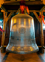 0605119 © Granger - Historical Picture ArchiveCHINA.   Bell in the Ten Thousand Buddha Pagoda, Du Fu Caotang (Du Fu's Thatched Cottage), Chengdu, Sichuan Province. Full credit: Pictures from History / Granger, NYC -- All rights reserved.
