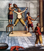 0605180 © Granger - Historical Picture ArchiveINDONESIA.   The Dutch imposed waterboarding and torture with fire on English merchants and Japanese mercenaries in Amboina in the Spice Islands in 1623. . Full credit: Pictures from History / Granger, NYC -- All rights reserved.