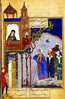 0605649 © Granger - Historical Picture ArchiveIRAN.   A miniature painting of Farid al-Din Attar's 'Conference of the Birds', 15th century.. Full credit: Pictures from History / Granger, NYC -- All rights reserved.