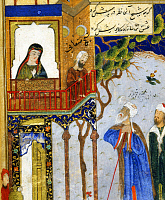 0605650 © Granger - Historical Picture ArchiveIRAN.   Detail from a miniature painting of Farid al-Din Attar's 'Conference of the Birds', 15th century.. Full credit: Pictures from History / Granger, NYC -- All rights reserved.