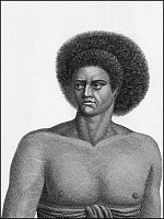 0605945 © Granger - Historical Picture ArchiveFIJI.   A Fijian man, c.1785.. Full credit: Pictures from History / Granger, NYC -- All rights reserved.