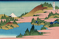 0606205 © Granger - Historical Picture ArchiveJAPAN.   ?ÇÿHakone Lake in Sagami Province?ÇÖ?Çöone of a series of woodblock prints by Katsushika Hokusai titled ?Çÿ36 Views of Mount Fuji?ÇÖ.. Full credit: Pictures from History / Granger, NYC -- All rights reserved.