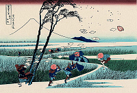0606221 © Granger - Historical Picture ArchiveJAPAN.   ?ÇÿEjiri in Suruga Province?ÇÖ?Çö one of a series of woodblock prints by Katsushika Hokusai titled ?Çÿ36 Views of Mount Fuji?ÇÖ.. Full credit: Pictures from History / Granger, NYC -- All rights reserved.